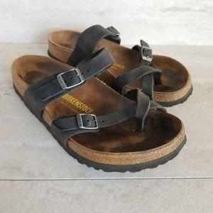 Birkenstock Mayari Black Birko-Flor Thong Sandals